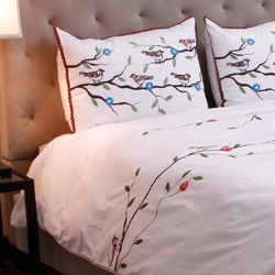 Nature Delight Queen Duvet Cover Set (India)