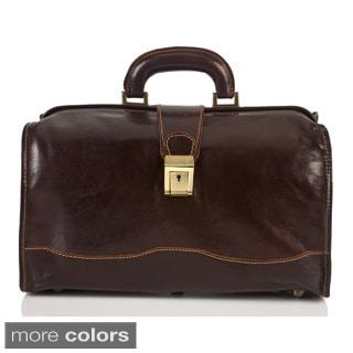 Alberto Bellucci Italian Leather Giotto Classic Doctor Top Handle Hand Bag