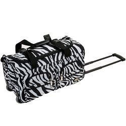 Rockland Deluxe Zebra Perfect Combination 3-piece Expandable Luggage Set