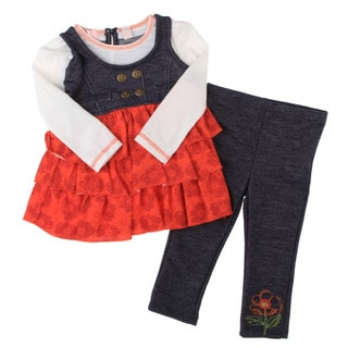 Kids Headquarters Infant Girls 2-piece Ruffled Set