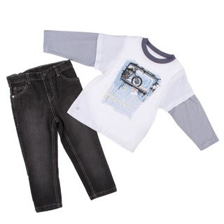 Kenneth Cole Boy's White/ Grey 2-piece Set FINAL SALE