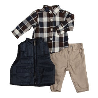 Kenneth Cole Infant Boy's Plaid 3-piece Set