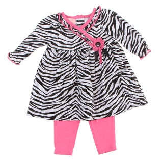 Kids Headquarters Newborn Girls Zebra 2-piece Set