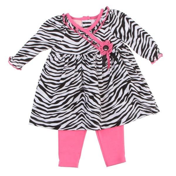Kids Headquarters Newborn Girls Zebra 2-piece Set