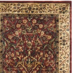 Handmade Persian Legend Red/Ivory Traditional Wool Rug (2'6