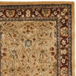 Handmade Persian Legend Ivory/ Rust Wool Rug (2'6 x 12')