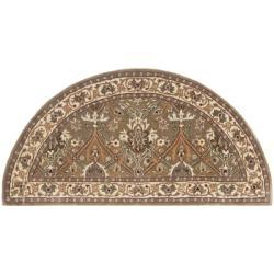 Handmade Persian Legend Light Green/ Beige Wool Rug (2'6 x 5' Hearth)