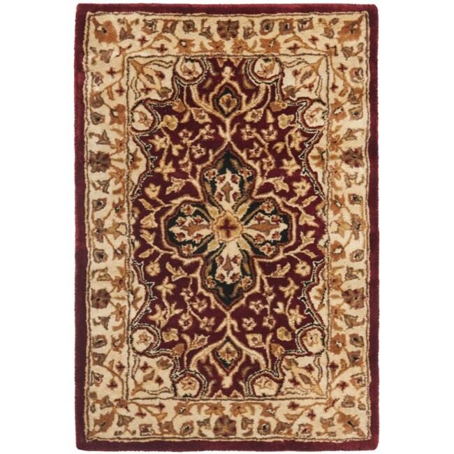 Safavieh Handmade Persian Legend Red/ Beige Wool Rug (2' x 3')