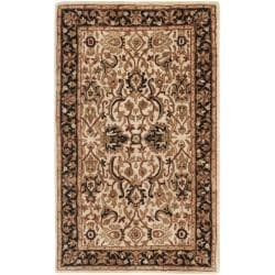 Handmade Persian Legend Ivory/ Black Wool Rug (2'6 x 4')