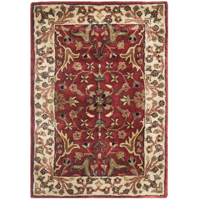 Safavieh Handmade Persian Legend Red/Ivory New-Zealand Wool Rug (2' x 3')