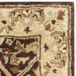 Safavieh Handmade Persian Legend Brown/ Beige Wool Rug (2' x 3')