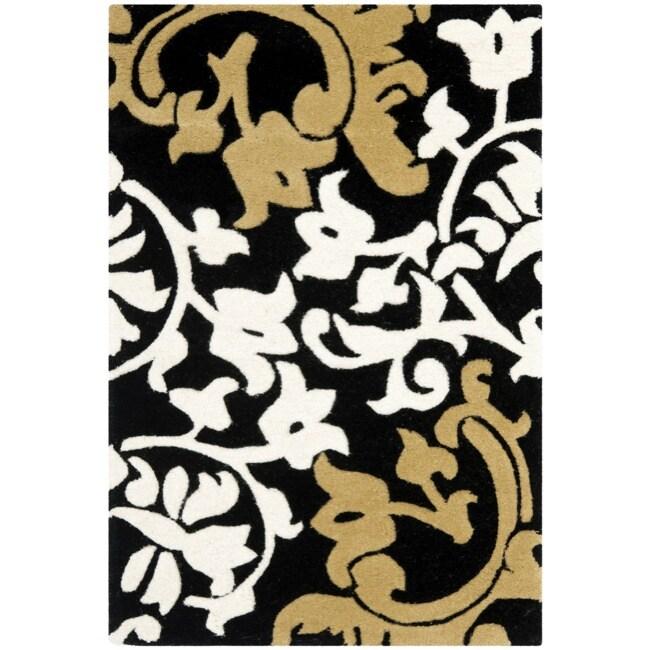 Safavieh Handmade Silhouettes Brown New Zealand Wool Rug (2' x 3')