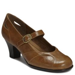 A2 by Aerosoles Marimba Dark Tan Combo Mary Jane Pump