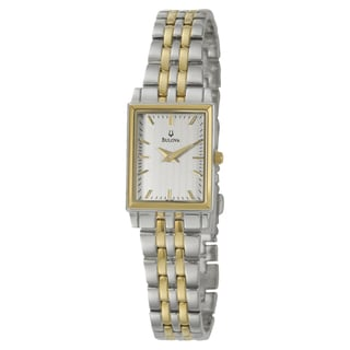 Bulova Women's 'Dress' Yellow Goldplated Quartz Watch
