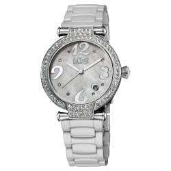 Burgi Women's Quartz Date Ceramic Bracelet Watch