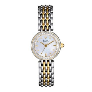 Bulova Women's 'Diamonds' Two-tone Stainless Steel Quartz Watch