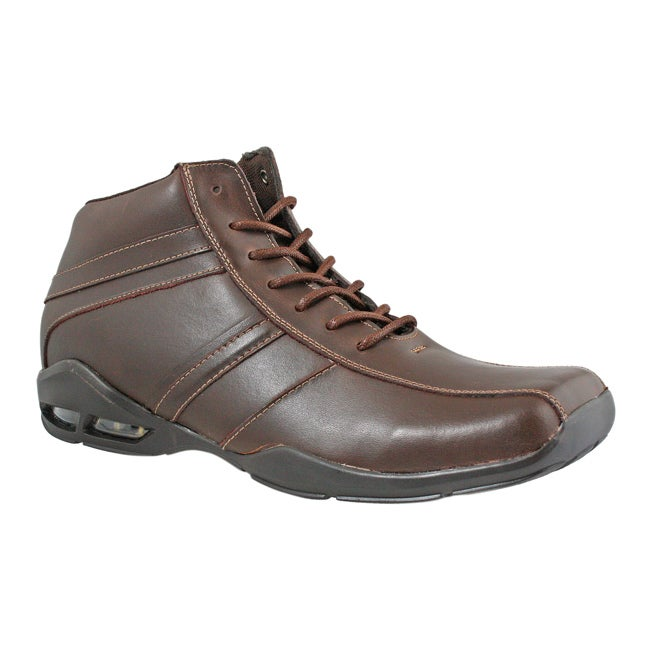 GBX Men's Panel Vamp Brown Burnished Leather Boots