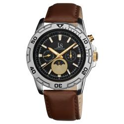 Joshua & Sons Men's Swiss Quartz Multifunction Strap Watch