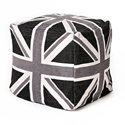 Union Jack 18-Inch Cubed Jacquard Beanbag
