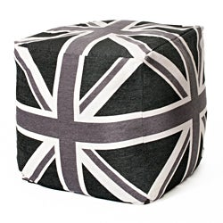 Union Jack Black/Grey/White 24-inch Cube