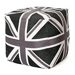 Union Jack Black/Grey/White 24-inch Cube