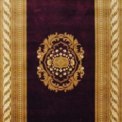 Herat Oriental Indo Hand-knotted Tibetan Burgundy/ Ivory Wool Rug (6'1 x 9'1)