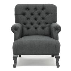 Joussard Gray Linen Club Chair