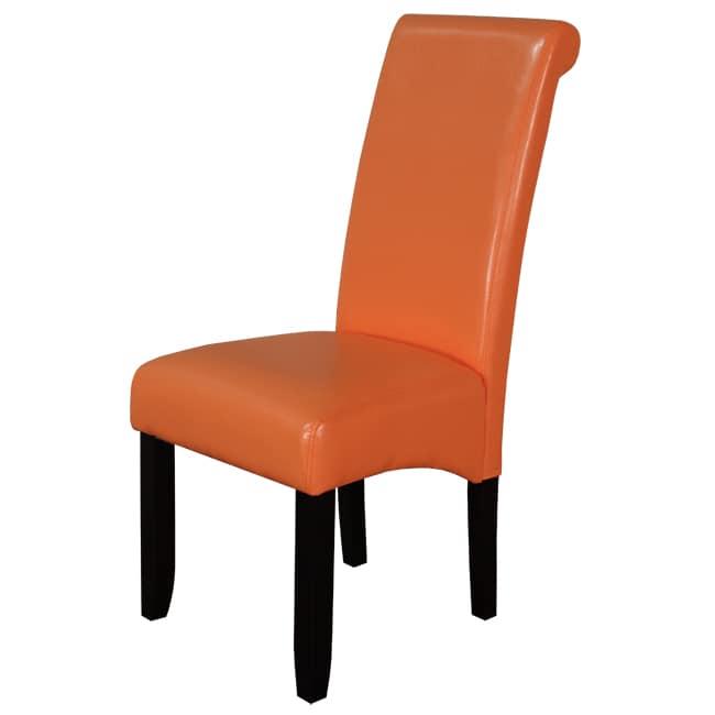 Monsoon Sunrise Orange Dining Chairs Set of 2