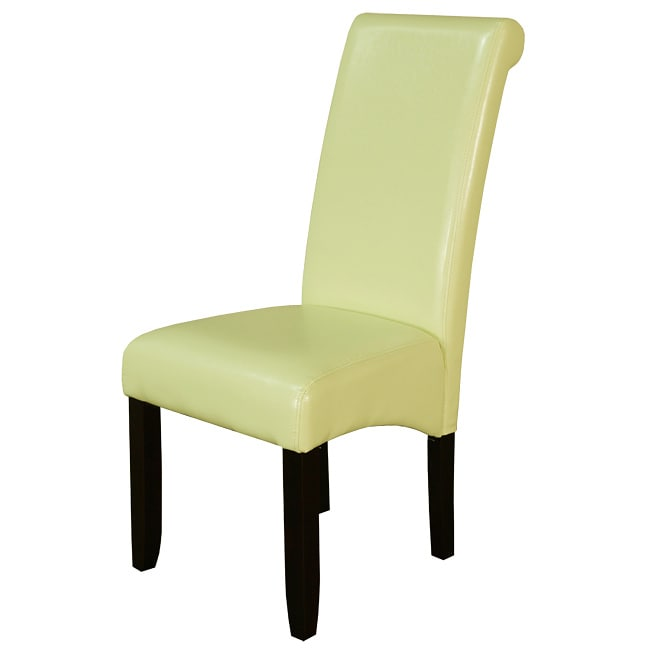 Monsoon Wax Green Faux Leather Dining Chairs Set Of 2