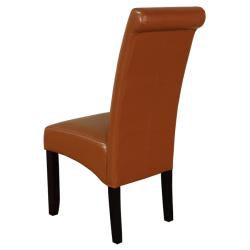 Monsoon Brown Faux Leather Dining Chairs (Set of 2)