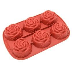 Freshware 6-Cavity Mini Rose Mold/ Baking Pan (Pack of 2)