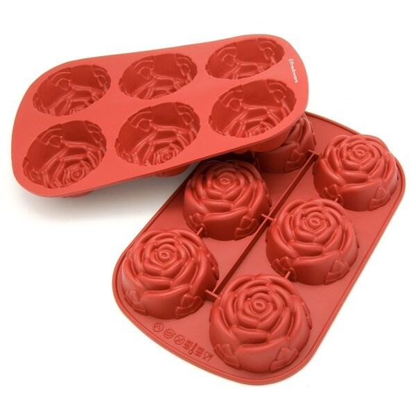 Freshware 6-Cavity Mini Rose Mold/ Baking Pan (Pack of 2) 9360963