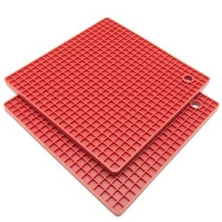 Freshware Silicone Honeycomb Pot Holders/ Trivets (Set of 2)