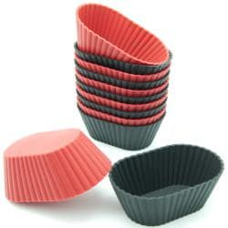 Freshware 12-Pack Mini Oval Silicone Reusable Baking Cup