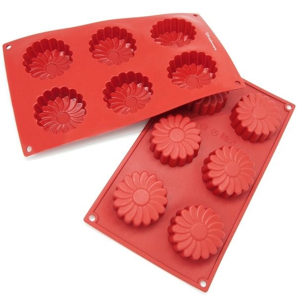 Freshware 6-cavity Daisy Flower Mold and Pan