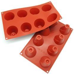 Freshware 8-Cavity Volcano Silicone Mold/ Baking Pan (Pack of 2)