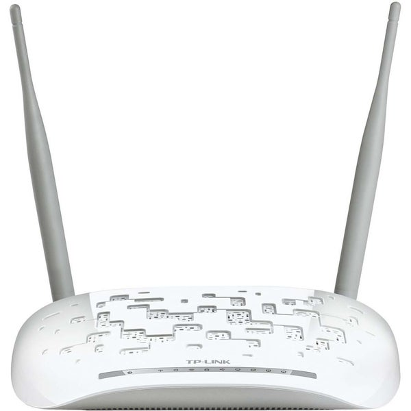 TP-LINK TD-W8968 Wireless N300 ADSL2+ Modem Router, 2.4Ghz 300Mbps, 8