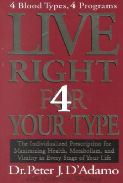 Live Right 4 Your Type: The Individualized Prescription for Maximizing Health, Metabolism, and Vitality in Every ... (Hardcover)