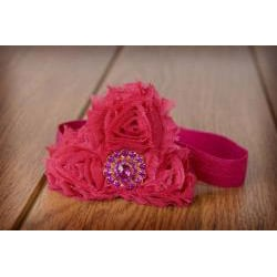 My Princess Tutus Hot Pink Rolled Flower Headband