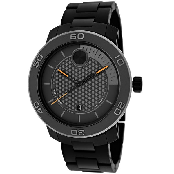 Movado Men's 3600097 Bold Round Black Ion-Plated Blacelet Watch