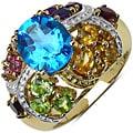 Malaika Gold over Silver 3 4/5ct TGW Multi-gemstone Ring