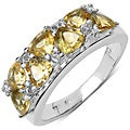Malaika Sterling Silver 1 4/5ct TGW Citrine and White Topaz Ring