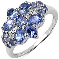 Malaika Sterling Silver 1 3/8ct TGW Tanzanite Ring