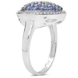Malaika Sterling Silver 1ct TGW Tanzanite Ring