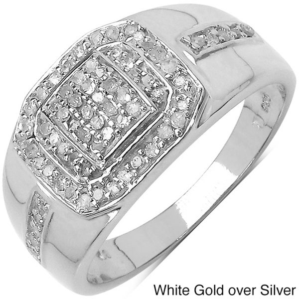 Malaika 14k Gold over Silver 3/8ct TDW Diamond Ring (I-J, I2-I3)