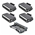 Brother Compatible TN650, 1 DR620 Drum Unit (Pack of 4)