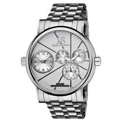 Joshua & Sons Men's Dual-time Stainless Steel Quartz Watch