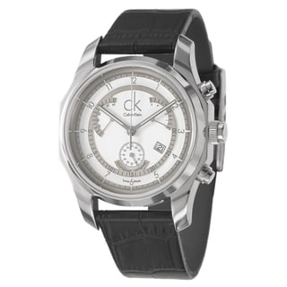 Calvin Klein Men's 'Biz' Stainless-Steel Watch with Silver Dial