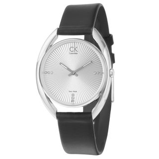 Calvin Klein Women's 'Ridge' Stainless Steel and Silver Watch