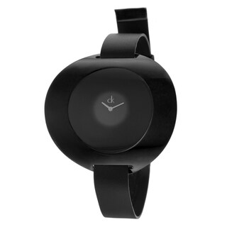 Calvin Klein Women's 'Ray' Black Stainless Steel Watch